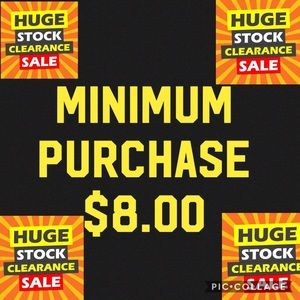 $3.00 items must be bundled $8 +